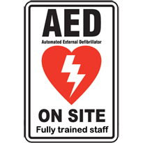 AED on site - fully trained staff
