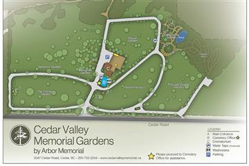 cedar valley cemetery map