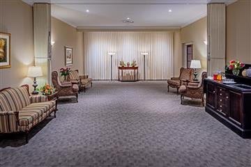 funeral home visitation room