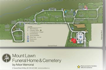 Whitby cemetery map