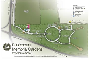 peterborough cemetery map